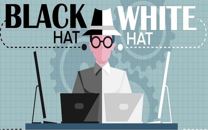 black y white hat seo